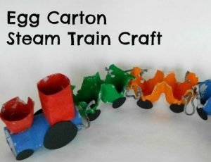 Egg Carton Train DIY