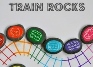 DIY Train Rocks Game/Teaching Tool